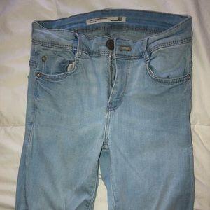 Zara High Waisted Skinny Denim Jeans